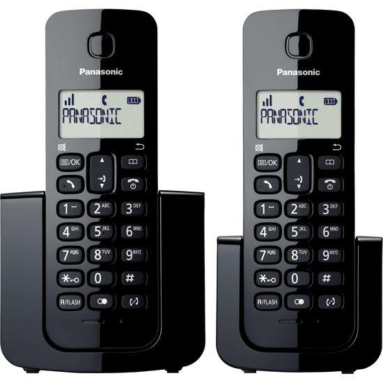 Telefone sem Fio com ID Base + Ramal KX-TGB112LBB Preto PANASONIC