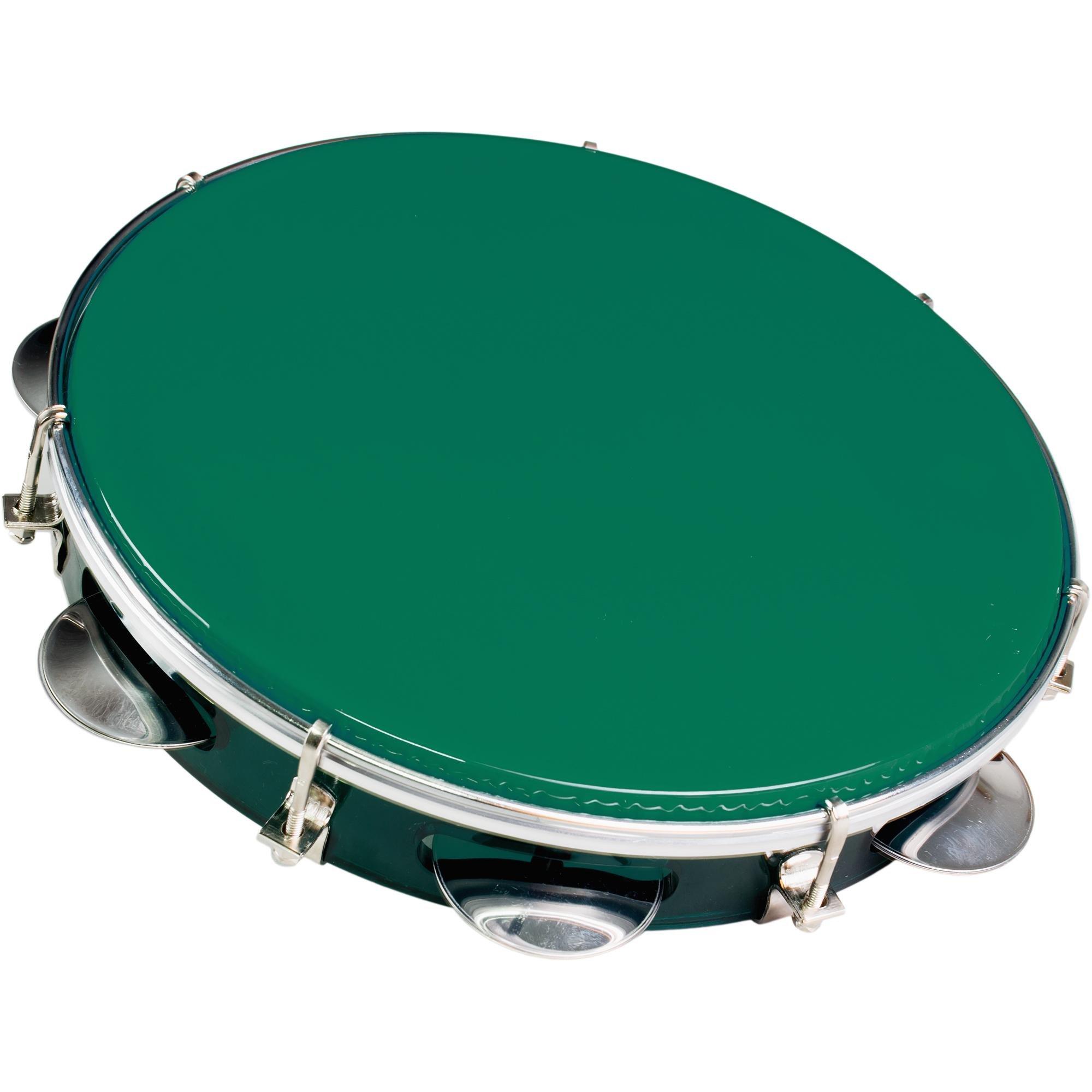 """Pandeiro Acrílico 10"""" 98A Colorido Verde PHX"""