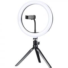 """Ring Light de Mesa LED 10"""" ILUM-R10P15 EXBOM"""