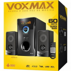 Caixa de Som Speakers Bluetooth com Subwoofer VM-X2151 Preta EXBOM
