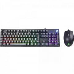 Kit Teclado + Mouse Gamer USB KM300 Preto HP